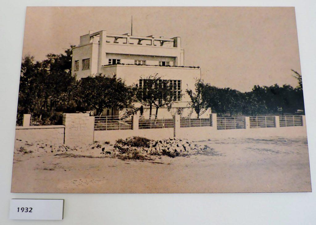 altes Foto einer Villa