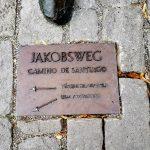 Tafel für Jakobsweg