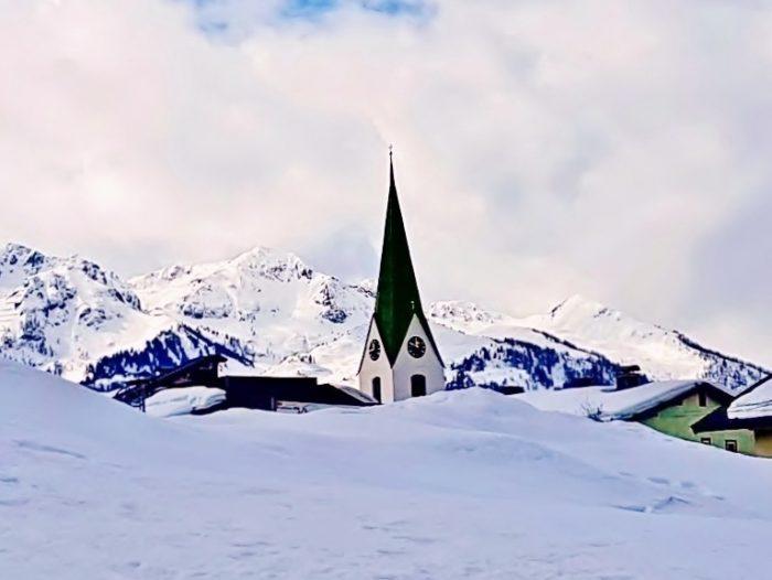 Pillerseetal Winter-Landschaft mit Kirche