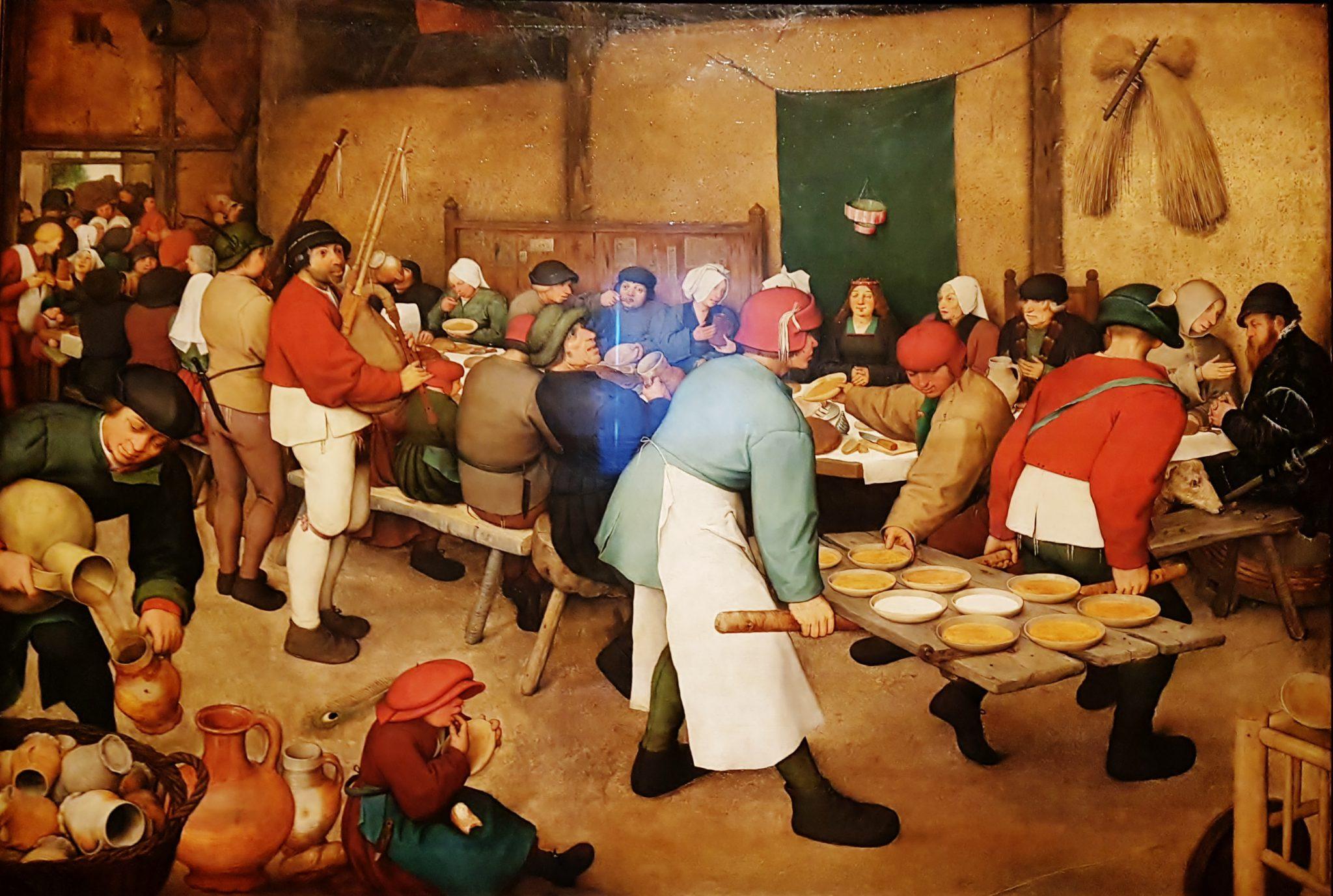 Bauernhochzeit Gemälde aus Bruegel Ausstellung