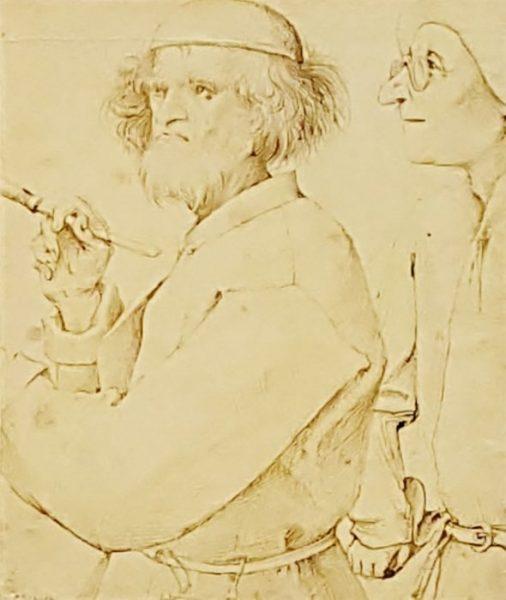 Zeichnung aus der Bruegel Ausstellung sensationell