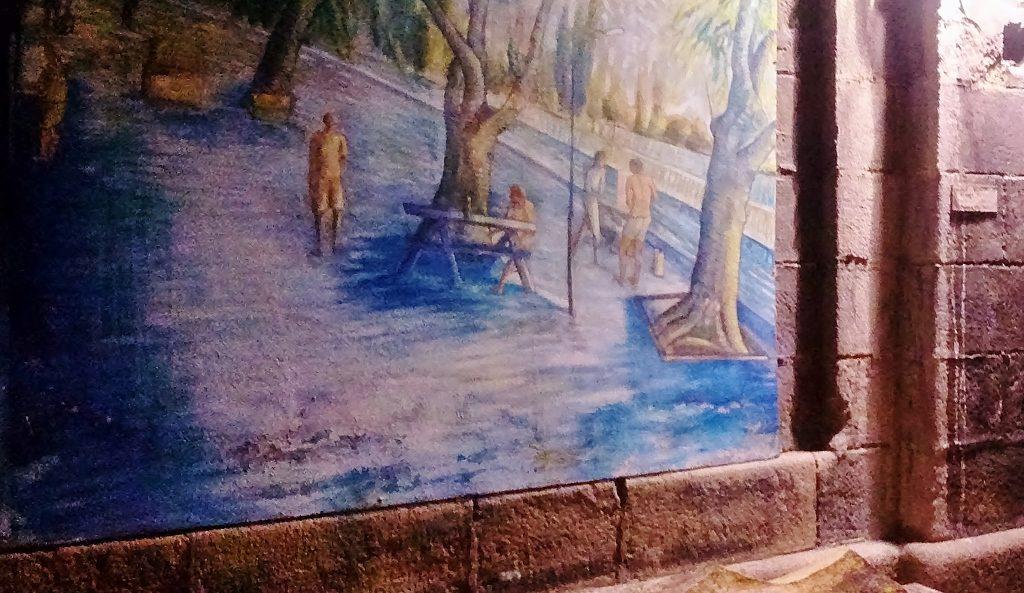 Wandgraffiti Street Art Wien Donaukanal