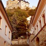 Burg Trencin-Blick hinauf