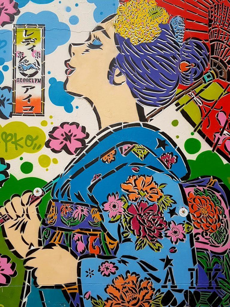 Bunte Street Art in Wien