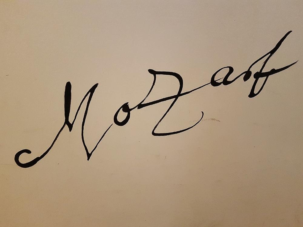 Handschrift Mozart