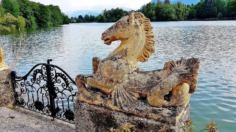 steinernes Pferd Schloss Leopoldskron Salzburg