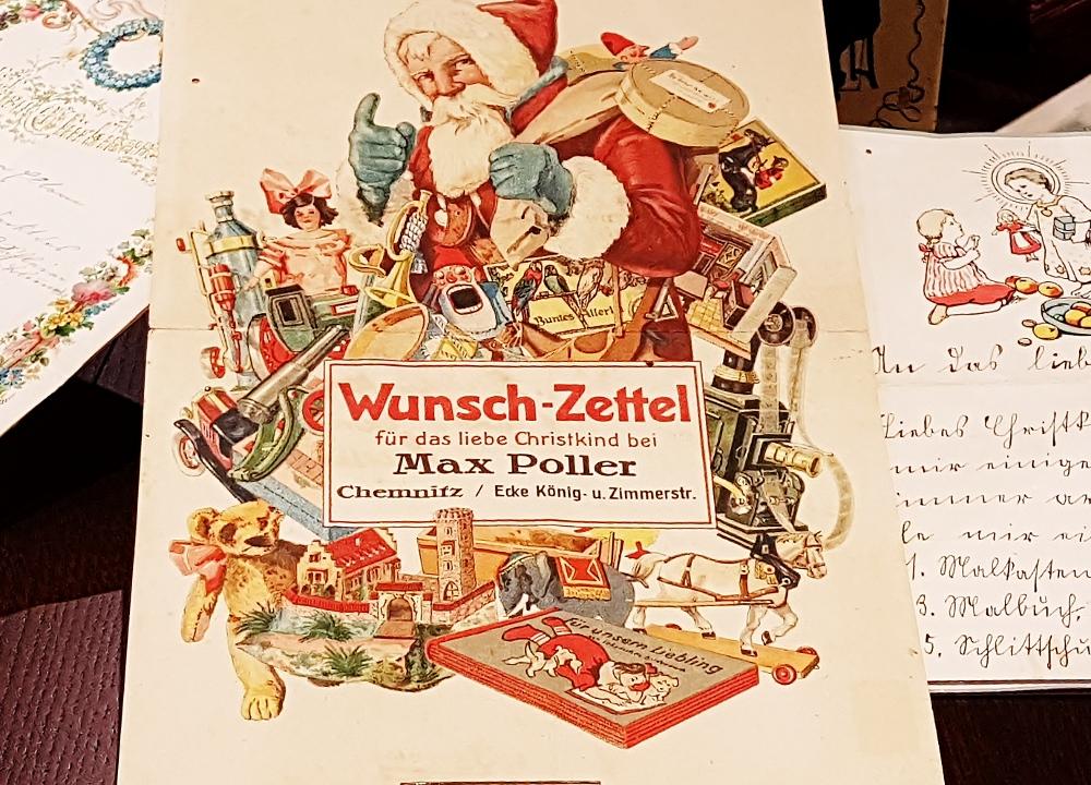 Wunschbrief ans Christkind aus dem Weihnachtsmuseum Salzburg