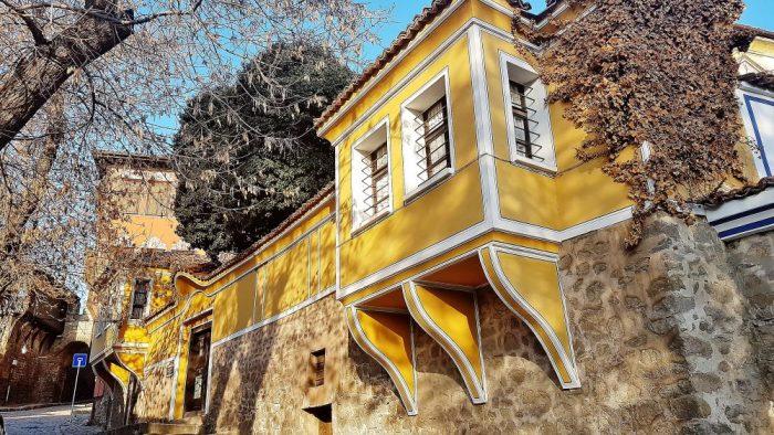 gelbes Altstadthaus in der Kulturhauptstadt Plovdiv 2019