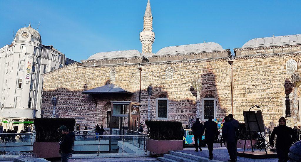 Moschee mit Vorplatz in Kulturhauptstadt Plovdiv 2019