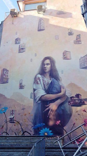 Graffiti mit Frau