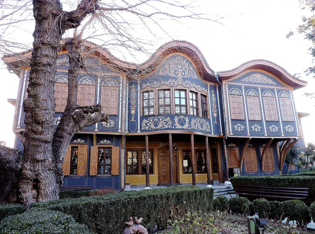 prächtiges bulgarisches Haus in Ausstellung in Kulturhauptstadt Plovdiv 2019