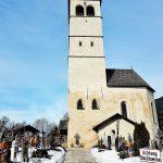 Kirchen-Glockenturm in Kitzbühel Altstadt Sehenswürdigkeiten