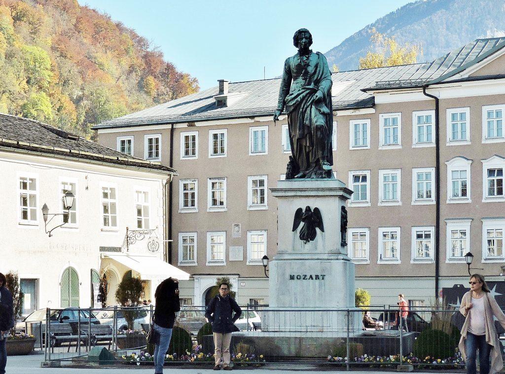 Mozartstatue, Mozart - Salzburg Sehenswürdigkeiten