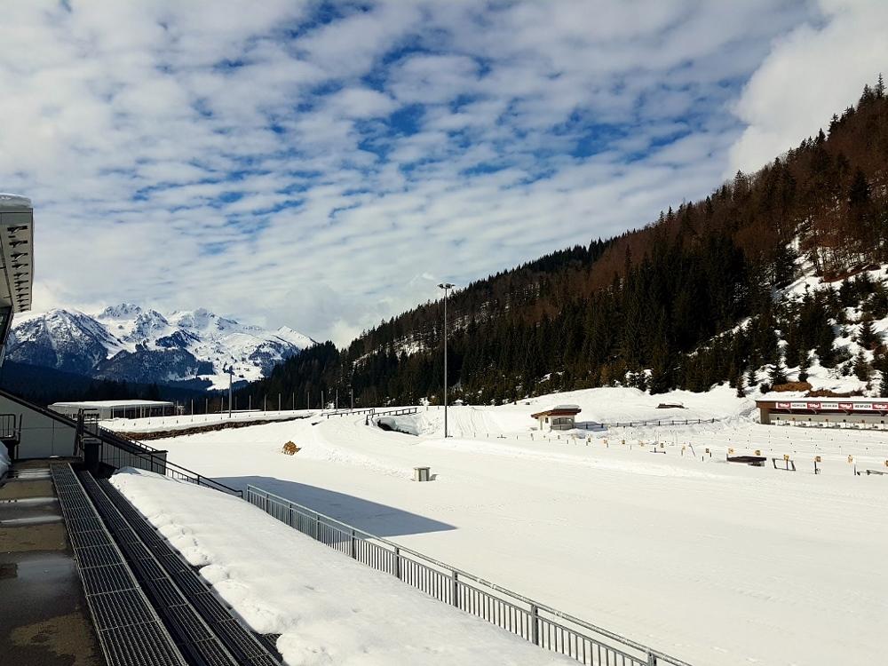 Stadion im Winter, Gäste Biathlon in Hochfilzen