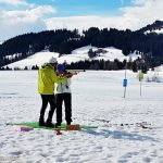 Gäste Biathlon in Hochfilzen im Winter