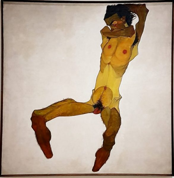 Bild E.Schiele im Leopold Museum Wien