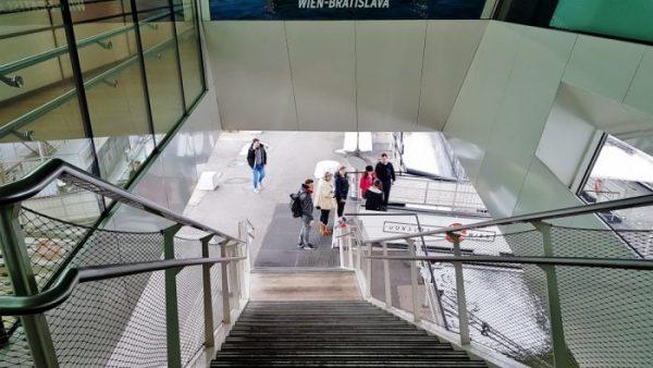 Einstiegsstelle zu Twin City Liner Bratislava Donau Fahrt