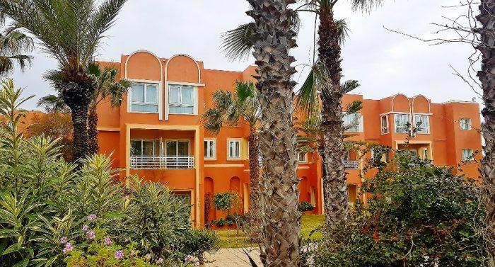 Hotel mit Palmen davor, Tunis Gammarth