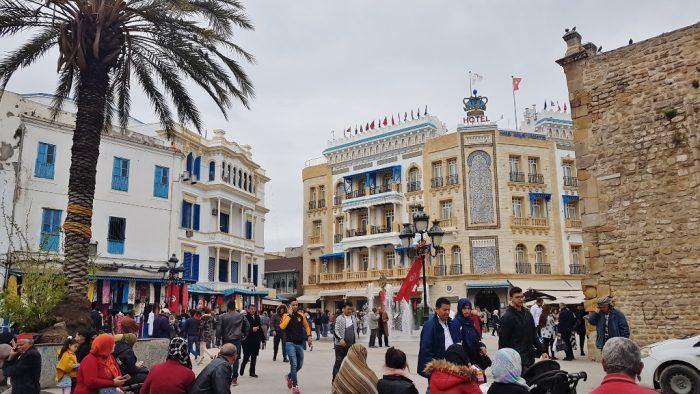 zentraler Platz in Tunis, einer der Sehenswürdigeiten