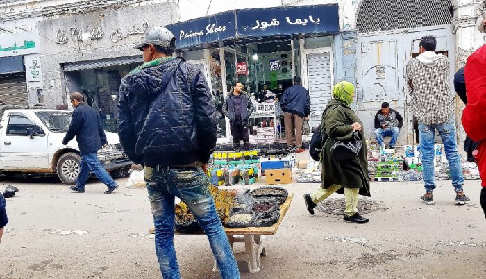 Straßenhändler in Tunis