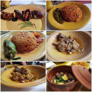 Collage mit tunesischen Speisen