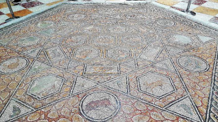 Bodenmosaik im Bardo Museum Tunis