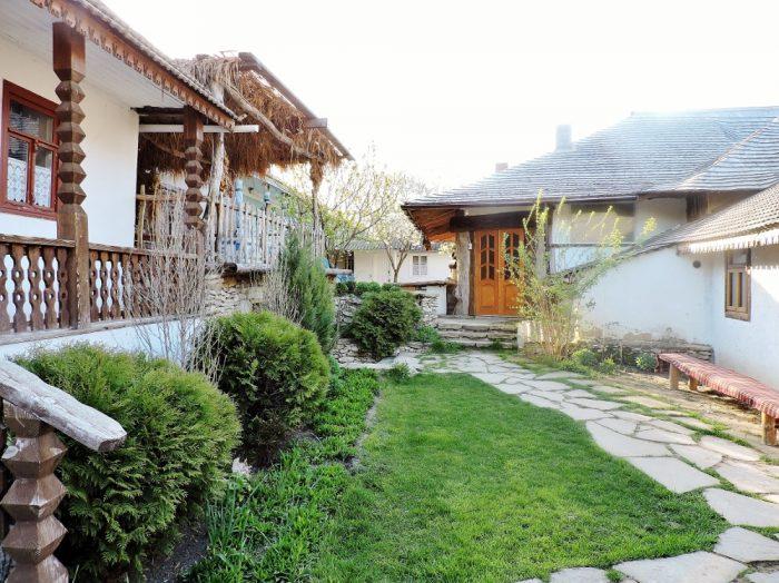 dörfliche Häuser in Moldawien