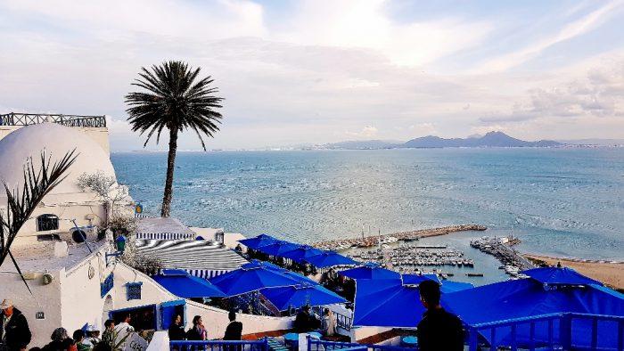 Aussicht von Sidi Bou Said in Tunesien