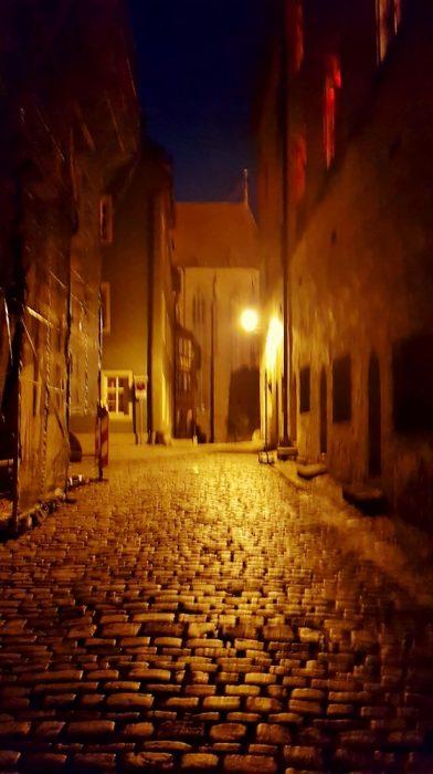 Rothenburg ob der Tauber bei Nacht