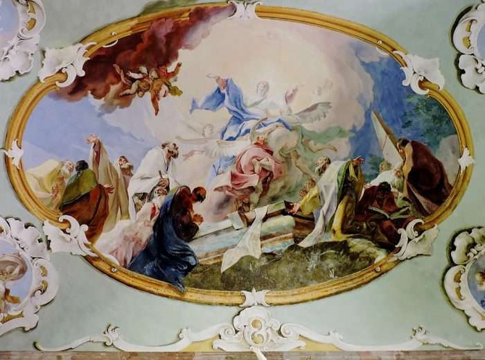 barockes Deckengemälde om Südmähren