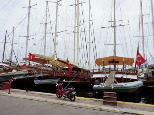 Urlaub am Meer, Jachten in Bodrum Stadt, Türkei