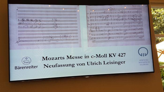 Partitur Mozart c-Moll Messe Neufassung