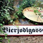 Schild in einem der Biergärten in Salzburg