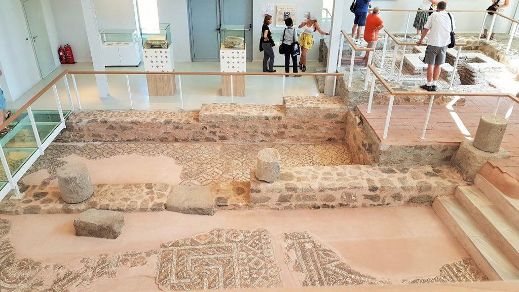 antike Boden-Mosaike in Museum