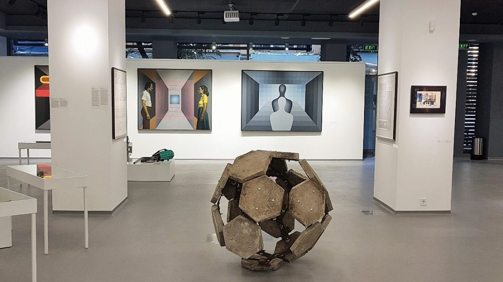 Innenansicht einer Galerie für zeitgenössische Kunst