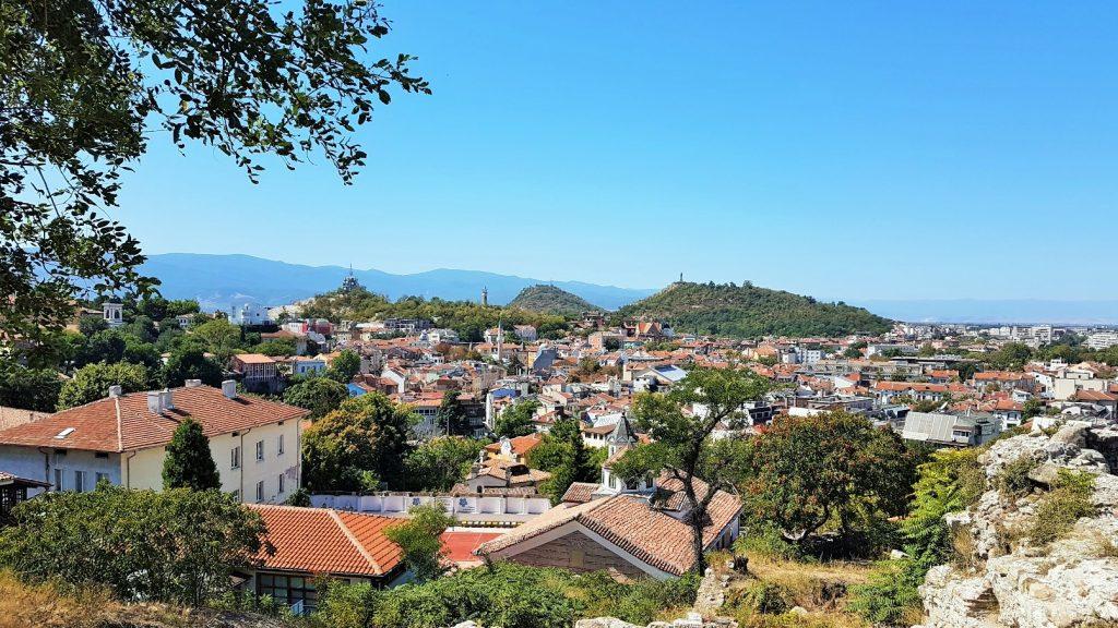 Blick von oben auf die Stadt Plovdiv