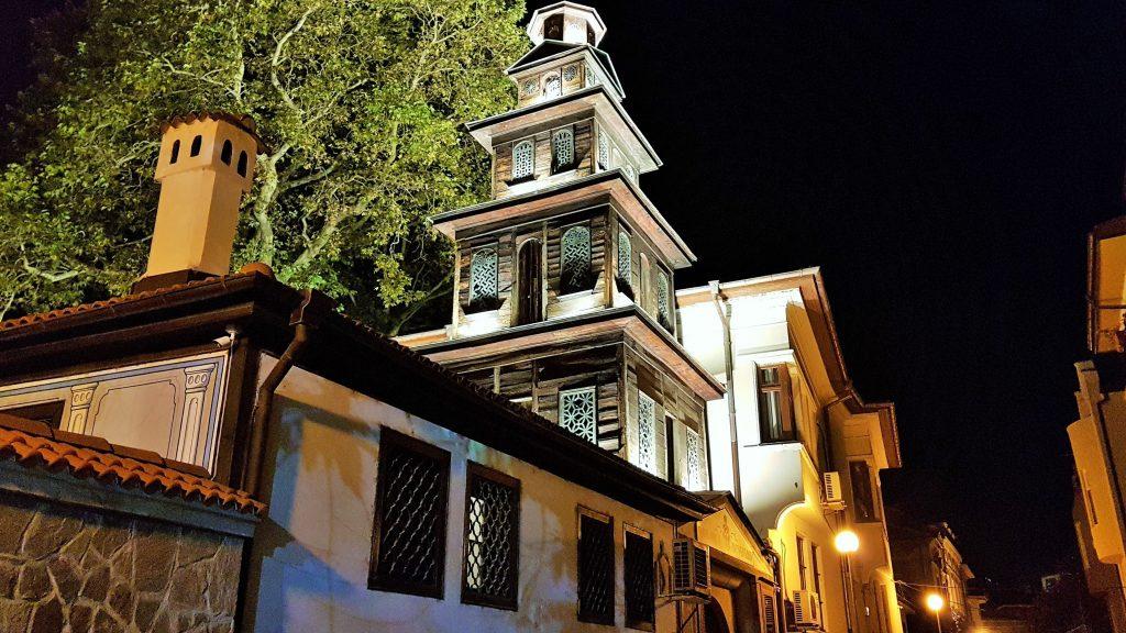 Plovdiv Altstadt bei Nacht