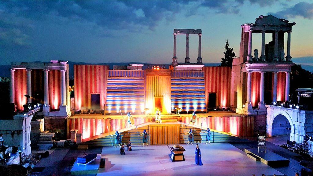 Opernaufführung im Amphitheater Plovdiv