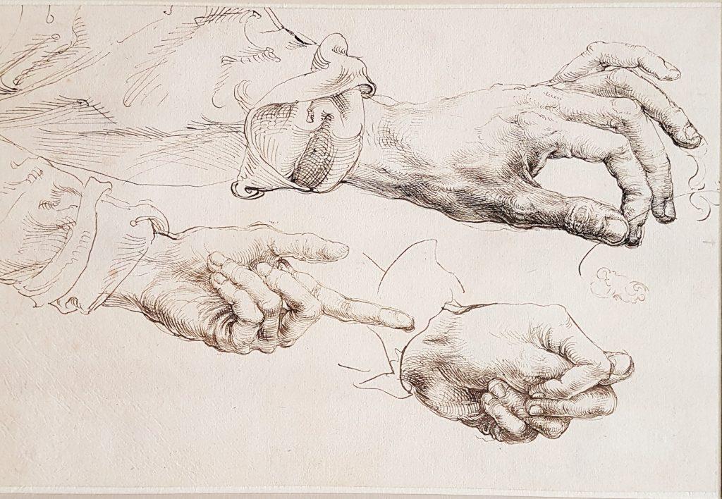 Zeichnung Albrecht Dürers mit Händen