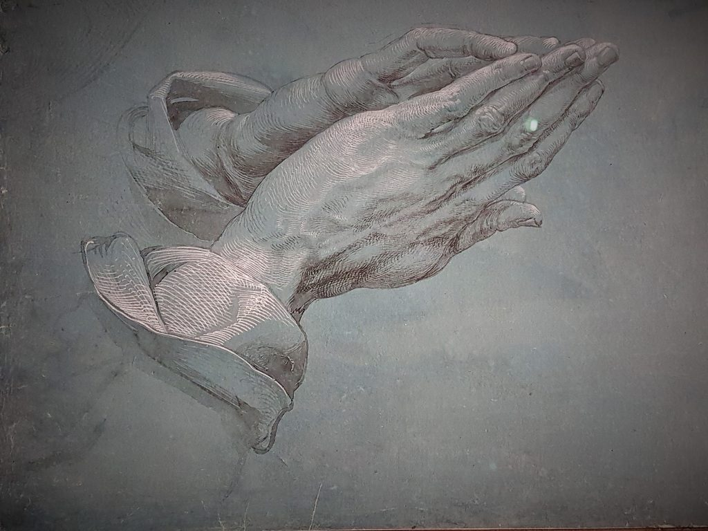 Zeichnung von Albrecht Dürer stellt betende Hände dar
