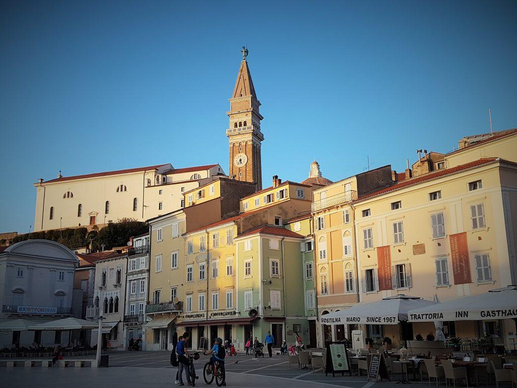 der historische Hauptplatz der istrischen Küstenstadt Piran