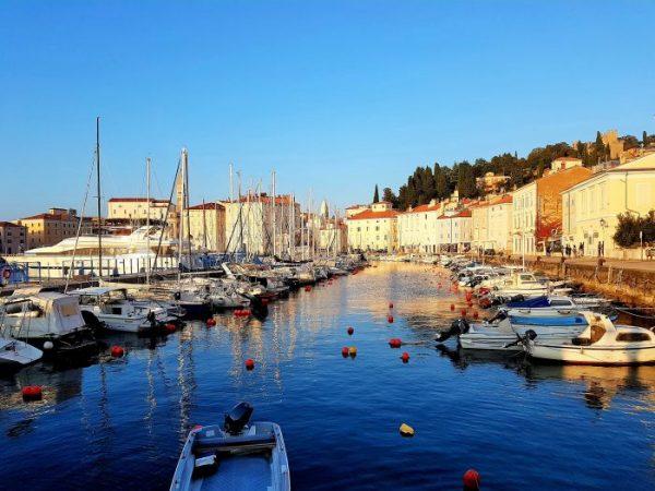 kleiner Bootshafen von Piran, slowenische Riviera