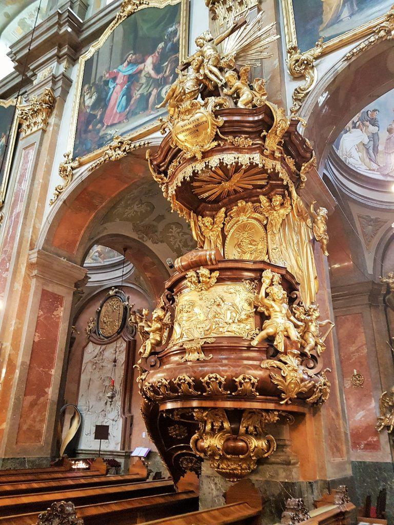 Barocke Kanzel des Doms von St. Pölten Sehenswürdigkeiten