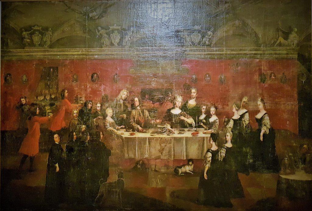 Historisches Wandgemälde mit Habsburgern