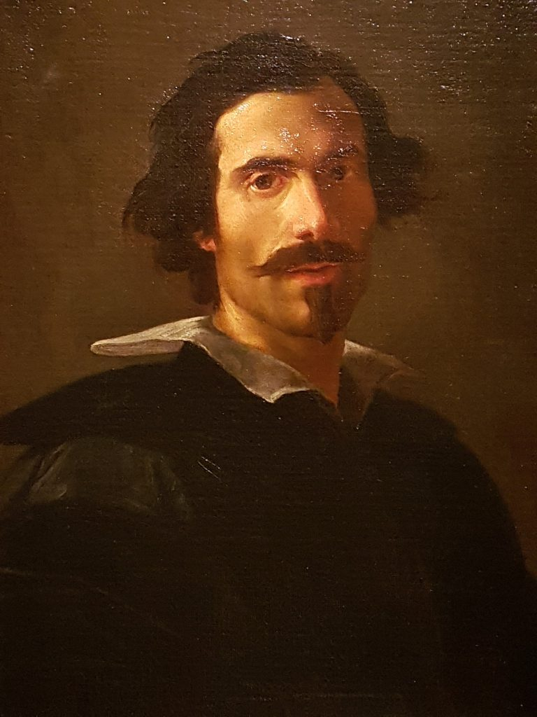 Gemälde mit Selbstbildnis Caravaggio, Kunsthistorisches Museum Wien