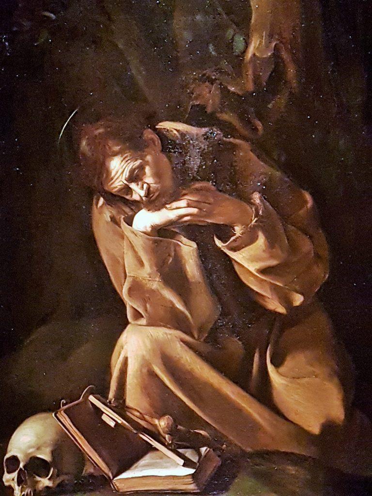 Caravaggio Gemälde des Hl. Franziskus