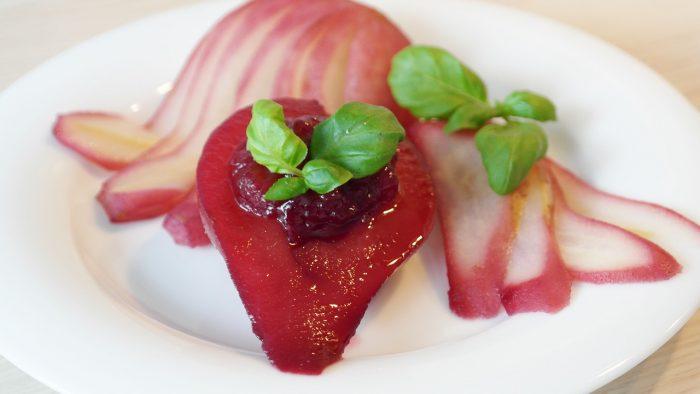 Rotweinbirnen Rezept als Beilage