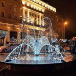 beleuchteter Brunnen Bratislava Weihnachtmarkt