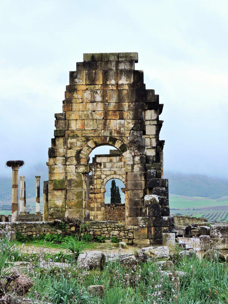 Ruinen der Weltkulturerbestätte Volubilis Bilder