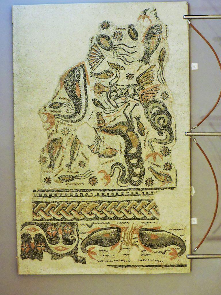 Teil eines antiken Mosaiks von Volubilis